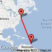 Newark (Newark Liberty International, EWR) - Carriacou (Carriacou Is, CRU)