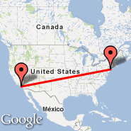 Newark (Newark Liberty International, EWR) - Los Angeles (Los Angeles International, LAX)