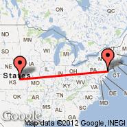 Newark (Newark Liberty International, EWR) - Manhattan (Municipal, MHK)