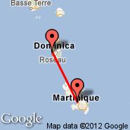 Fort de France (Lamentin, FDF) - Roseau (Cane Field, DCF)
