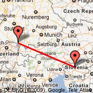 Friedrichshafen (Lowenthal, FDH) - Ljubljana (Brnik, LJU)