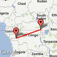 Kinshasa (N'djili International, FIH) - Beni (BNC)