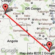 Kinshasa (N'djili International, FIH) - Lusaka (Lusaka International Airport, LUN)