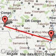 Kinshasa (N'djili International, FIH) - Pweto (PWO)