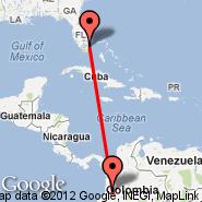 Fort Lauderdale (Fort Lauderdale/hollywood International, FLL) - Cali (Alfonso B. Aragon, CLO)