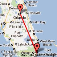 Fort Lauderdale (Fort Lauderdale/hollywood International, FLL) - Orlando (Orlando Executive, ORL)