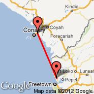 Freetown (Lungi International, FNA) - Conakry (CKY)