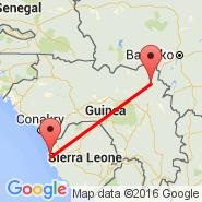 Freetown (Lungi International, FNA) - Siguiri (GII)