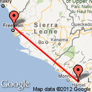 Freetown (Lungi International, FNA) - Monrovia (Roberts Intl, ROB)