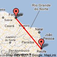 Fortaleza (Pinto Martins, FOR) - Recife (Guararapes Intl, REC)