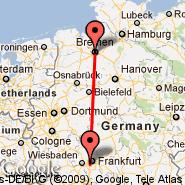 Frankfurt (Frankfurt International Airport, FRA) - Bremen (Neuenland, BRE)