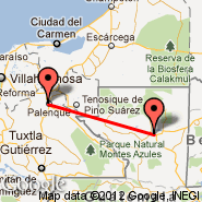Flores (Santa Elena, FRS) - Palenque (Palenque International Airport, PQM)