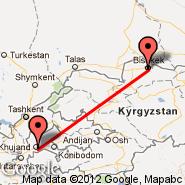 Bishkek (Manas, FRU) - Khujand (Khudzhand, LBD)