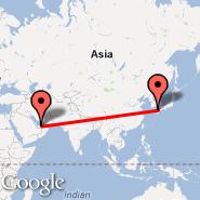 Fukuoka (Itazuke AFB, FUK) - Abu Dhabi (Abu Dhabi International, AUH)