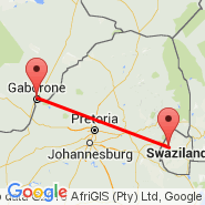 Gaborone (Sir Seretse Khama International, GBE) - Mbabane (QMN)