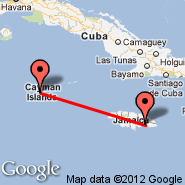 Grand Cayman (Owen Roberts International, GCM) - Kingston (Norman Manley, KIN)