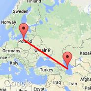 Gdansk (Lech Walesa, GDN) - Baku (Heydar Aliyev International, GYD)