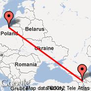 Gdansk (Lech Walesa, GDN) - Tbilisi (Lochini, TBS)