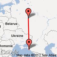 Gelendzik (GDZ) - Moskva (Metropolitan Area, MOW)