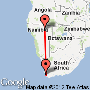 Grootfontein (GFY) - Cape Town (Cape Town International, CPT)