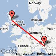 Glasgow (Glasgow International, GLA) - Celovec (Alpe Adria, KLU)