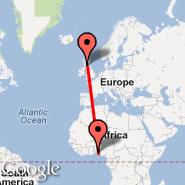 Glasgow (Glasgow International, GLA) - Lagos (Murtala Muhammed, LOS)