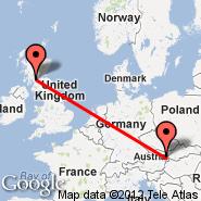 Glasgow (Glasgow International, GLA) - Dunaj (Schwechat International, VIE)