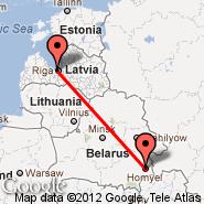 Gomel (GME) - Riga (Riga International, RIX)