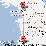 Seoul (Gimpo International, GMP) - Gwangju (KWJ)