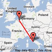 Ghent/Gent (St. Denijs-Westrem, GNE) - Rim (Metropolitan Area, ROM)