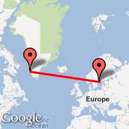 Nuuk (Godth, GOH) - Stockholm (Metropolitan Area, STO)