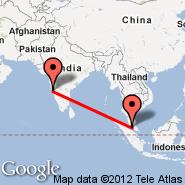 Goa/Dabolim (Dabolim, GOI) - Kuala Lumpur (Kuala Lumpur International Airport, KUL)