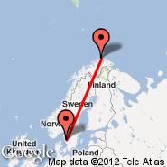 Goteborg (Landvetter, GOT) - Nordkapp (Valan Airport, HVG)