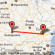 Guarapuava (Tancredo Thomaz Faria, GPB) - Curitiba (Afonso Pena International Airport, CWB)