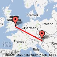 Graz (Thalerhof, GRZ) - Cambridge (CBG)