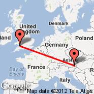 Graz (Thalerhof, GRZ) - Cardiff (Cardiff International Airport, CWL)