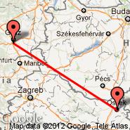 Graz (Thalerhof, GRZ) - Osijek (OSI)