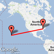 Greenville (Greenville Spartanburg International Airport, GSP) - Honolulu (Hickam AFB, HIK)