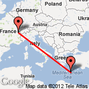Geneva (Geneve-cointrin, GVA) - Heraklion/Crete (Nikos Kazantzakis Airport, HER)