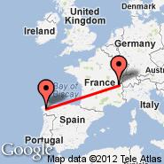 Ženeva (Geneve-cointrin, GVA) - Santiago de Compostela (Santiago, SCQ)