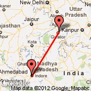 Gwalior (GWL) - Indore (Devi Ahilyabai Holkar, IDR)
