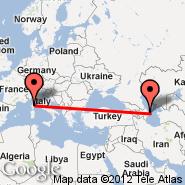 Baku (Heydar Aliyev International, GYD) - Bastia (Poretta, BIA)