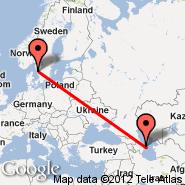 Baku (Heydar Aliyev International, GYD) - Goteborg (Landvetter, GOT)