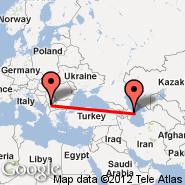 Baku (Heydar Aliyev International, GYD) - Priština (Prishtina International Airport, PRN)