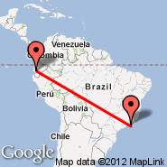 Guayaquil (Simon Bolivar, GYE) - Rio de Janeiro (Metropolitan Area, RIO)