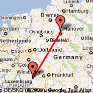Hannover (Hanover Arpt, HAJ) - Hahn (Frankfurt-Hahn, HHN)