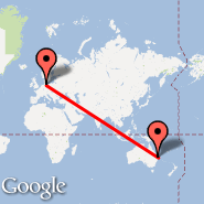 Hamburg (Hamburg Airport, HAM) - Brisbane (Brisbane International, BNE)