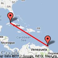 Havana (Jose Marti Intl, HAV) - Port-of-Spain (Piarco International, POS)