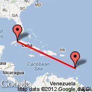 Havana (Jose Marti Intl, HAV) - Castries (George F L Charles, SLU)