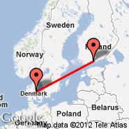Helsinki (Helsinki-vantaa, HEL) - Aarhus (Aarhus Airport, AAR)